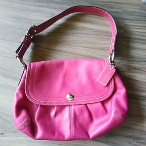 Coach pink leather bag